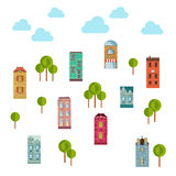 urban objects. Vector illustration of community. Stock Image