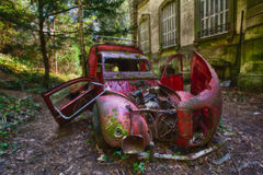Urban Old Abandoned car Royalty Free Stock Photo
