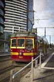 Urban old tram Stock Images