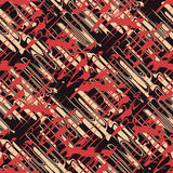 Urban ornament. Abstract experimental urban dynamic ornament. Seamless pattern Stock Image
