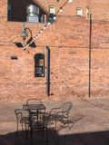 Urban outdoor seating Stock Images