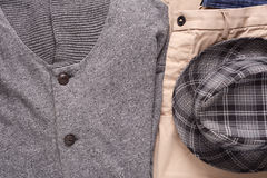 Urban outfit of traveler, student or young man Royalty Free Stock Image