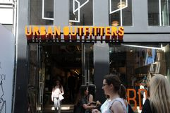 URBAN OUTFITTERS. Copenhagen/Denmark 13 jULY 2018_ .Urban outfitters store on streoget in Copenhagen, Denmark Photo.Francis Joseph Dean / Deanpictures royalty free stock photo