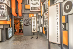 Urban Outfitters. Entrance to the newly opened Urban Outfitters fashion store in munich stock image