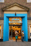 Urban outfitters. LONDON - JANUARY 22nd: The exterior of Urban outfitters on January the 22nd, 2015, in London, England, UK. Urban outfitters is a popular stock images
