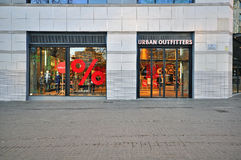 Urban Outfitters store Royalty Free Stock Images