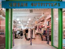 Urban Outfitters store. View at Urban Outfitters store in Denver. is an American multinational clothing corporation headquartered in Philadelphia and founded at royalty free stock image