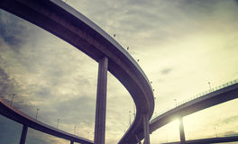 Urban overpass. Retro effect image Stock Images