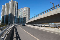 Urban overpass. The scenery of modern urban overpass Royalty Free Stock Photography