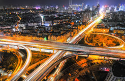 Urban overpasses. Urban rapid road, filming in Qingdao, China Stock Photography