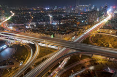 Urban overpasses. Urban rapid road, filming in Qingdao, China Royalty Free Stock Images