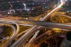 Urban overpasses. Urban rapid road, filming in Qingdao, China Stock Images