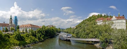 Urban panorama - Graz Royalty Free Stock Image