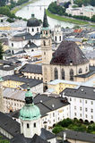 Urban panorama, Salzburg Royalty Free Stock Images