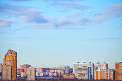 Urban panoramic landscape Royalty Free Stock Images