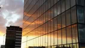 Urban Paris himmelspegel BNF Fotografering för Bildbyråer