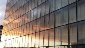 Urban  Paris Skies mirror BNF Stock Image