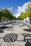 Urban park area of Parque das Nacoes, Lisbon, Portugal Royalty Free Stock Image