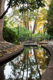 Urban park in autumn Royalty Free Stock Photos