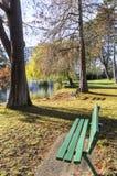 Urban park in autumn, Canada stock images