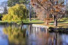 Urban park in autumn, Canada Royalty Free Stock Photos
