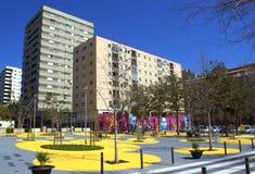 Urban park,Barcelona Stock Images