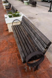 Urban Park Bench Royalty Free Stock Images