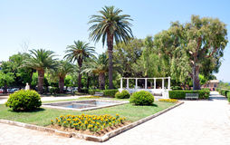 Urban park, the city of Corfu, Greece. Urban park in the summer, the town of Corfu, Greece Stock Image