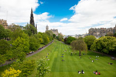 Urban park at Edinburgh Stock Photos