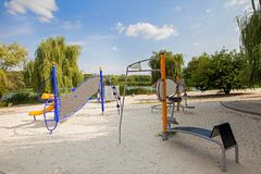 Urban park infrastructure royalty free stock photography