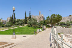 Urban park in Jerusalem, Israel. Royalty Free Stock Images