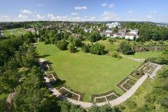 Urban park meadows, Stuttgart Royalty Free Stock Image