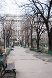 Urban park path Royalty Free Stock Image