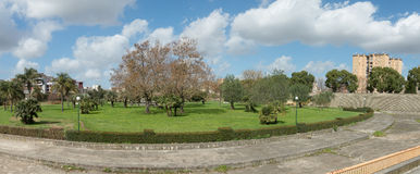 Urban park of Scampia - naples, IT Royalty Free Stock Photography