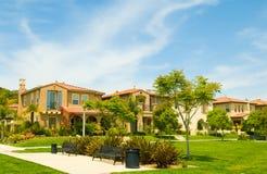 Urban Park set among Luxury Spanish Style Homes Royalty Free Stock Photography