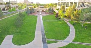 Urban park stock video footage
