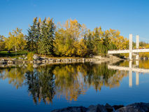 Urban park space in the city of Calgary Royalty Free Stock Image