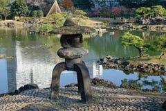 Urban park in Tokyo, Japan. Japanese Stone Lantern at the park in Tokyo, Japan Stock Photos