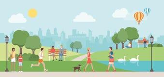 Urban parkerar vektor illustrationer
