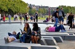 Urban parkerar i Amsterdam royaltyfri foto