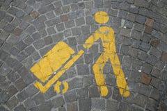 Urban parking sign Stock Photos