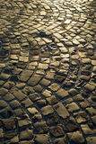 Urban paving cobblestones Stock Images