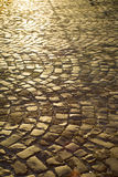 Urban paving cobblestones Royalty Free Stock Photo