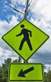 Urban pedestrian crossing sign Stock Image