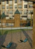 Urban Playground. New Playground incorporated into Urban Renewal Stock Photos