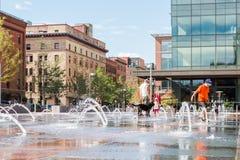 Urban plaza Stock Image