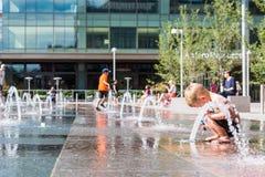 Urban plaza Stock Photography