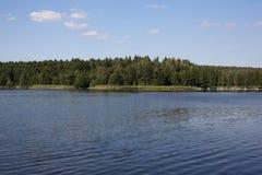 Urban pond Stock Photo