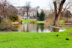 Urban pond in Paris Royalty Free Stock Photography