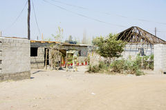 Urban Poor Residential Area in African City Stock Photo